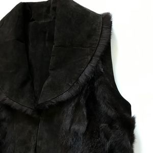 Cejon Jackets & Coats - Cejon Reversible Vest Fur Leather Medium Brown M